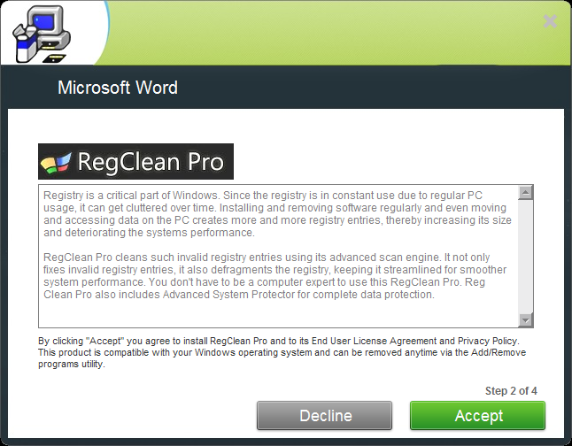 MSWord-RegCleanPro