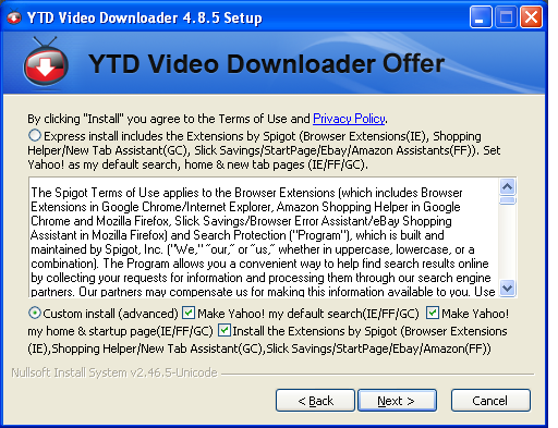 YTD Video DownloaderCustom